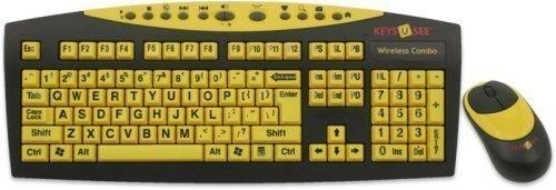 Keys-U-See Wireless Large Print Keyboard and Wireless Mouse