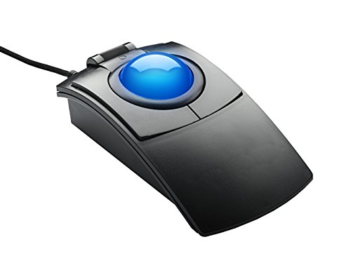 ELECOM M-HT1URBK Wired Trackball Mouse Larger, Ergonomic