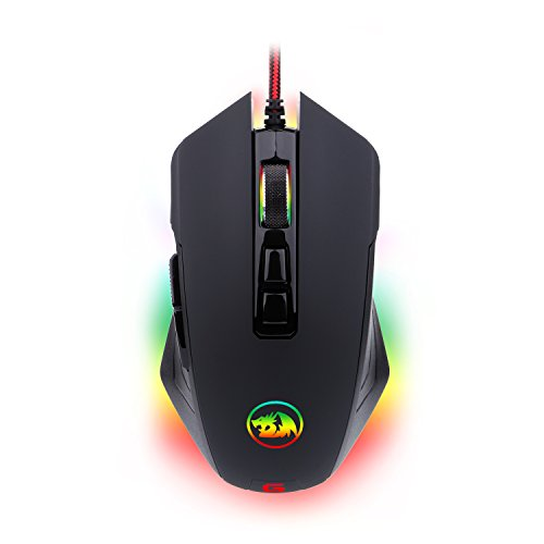6c6aa15897c Gaming Mouse RGB LED Backlit Wired MMO PC Gaming Mouse M715-RGB DAGGER by  Redragon, Ergonomic High-Precision Programmable Gaming Mouse with 7 RGB  backlight ...