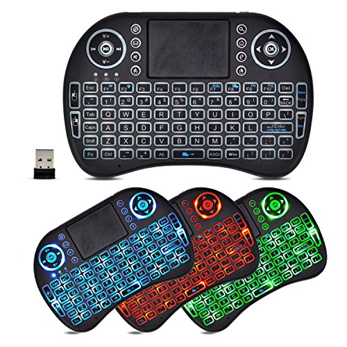 Wireless LED Colorful Backlit 2 4GHz Mini Keyboard with